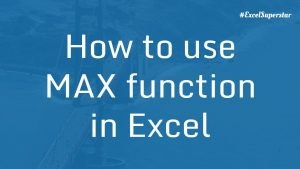 Max-function-in-Excel