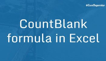 Countblank-function-in-excel