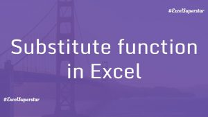 Substitute-function-in-excel