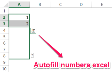 Autofill numbers excel fill handle