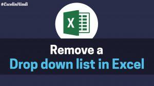 Remove Drop down list