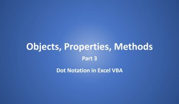 Concept of Objects, Properties, Methods Part 3 Dot Notation Excel VBA in Hindi