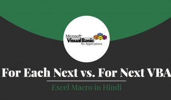 For Each Next vs. For Next VBA in Excel