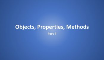 Objects, Properties, Methods Part 4 Excel VBA in Hindi