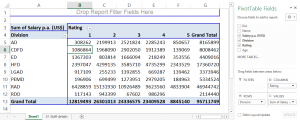 Pivot Table in Excel - Two Dimensional Pivot table