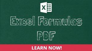 Excel Formulas PDF
