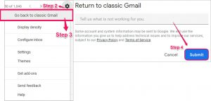 Steps to return to Classic Gmail - Gmail updates
