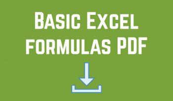 Basic Excel formulas PDF
