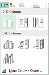 Column Chart Options