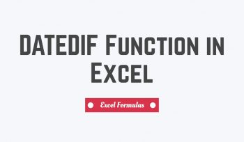 DATEDIF Function in Excel