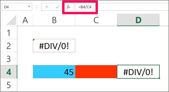 Formula Error - Div Error example 2