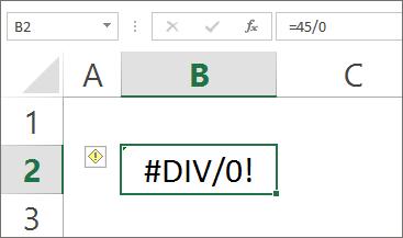 Formula Error - Div Error