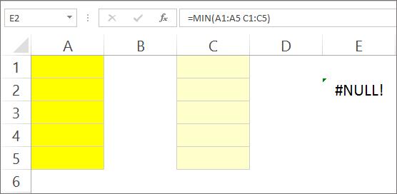 Formula Error - Null Error