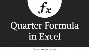 Quarter Formula in Excel
